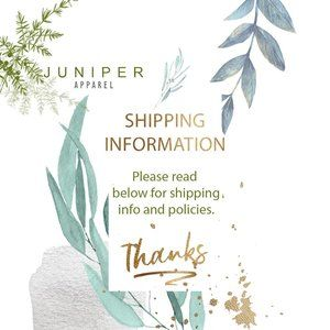 Shipping Policies & Information